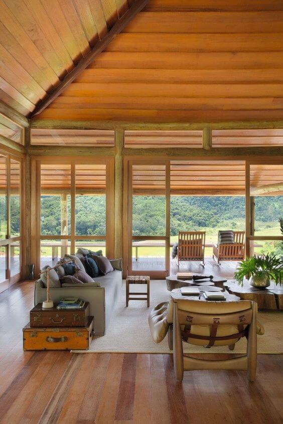 casas de madeira - parte interna de casa