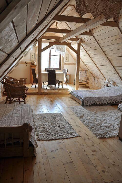 casas de madeira - quarto de casa de madeira