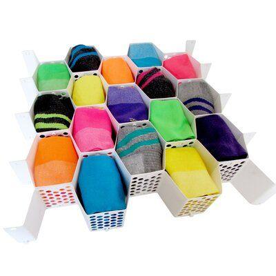 colmeia organizadora - colmeia vazada de meias coloridas