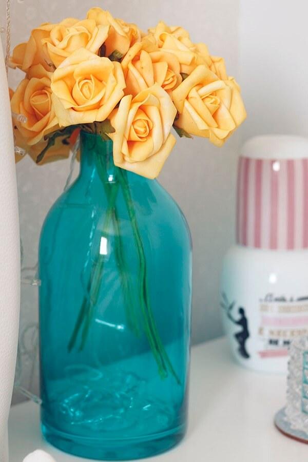 Decoração delicado feita com flores de EVA