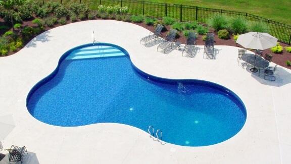 Modelo de piscina para área de lazer