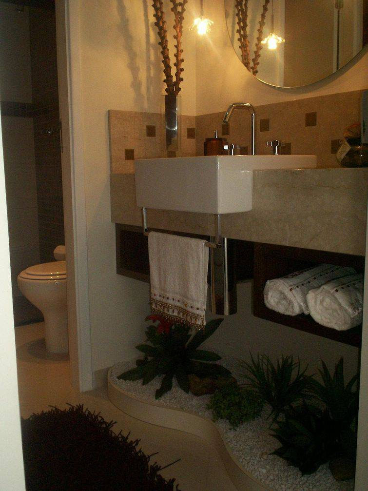 Cuba para banheiro semi embutida