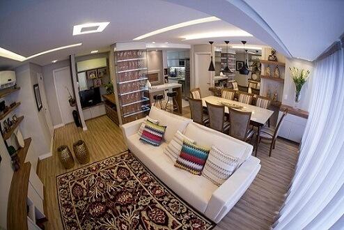 Almofadas decorativas com estampas zigzag Projeto de Inova Arquitetura