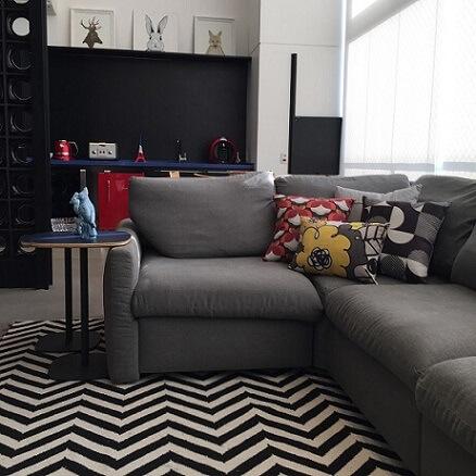 Almofadas decorativas combinando com o ambiente Projeto de Ana Cristina Nigromalta