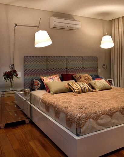 Almofadas decorativas diversas Projeto de Crisa Santos Arquitetos