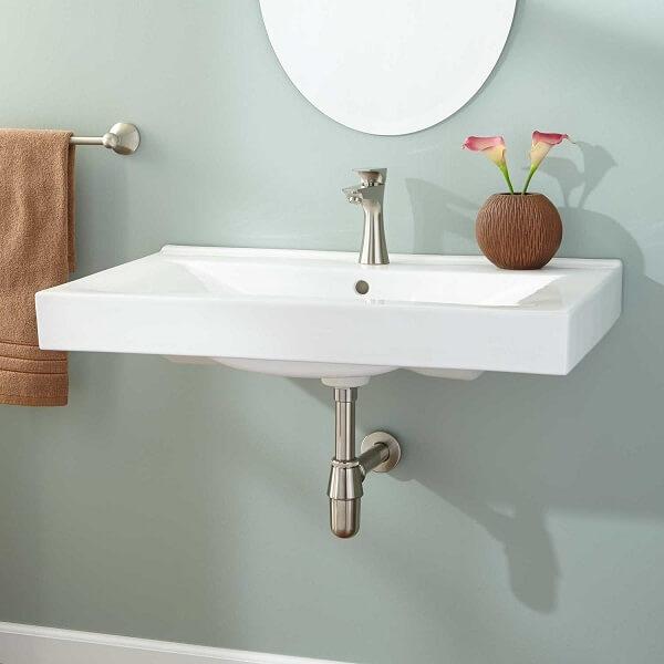Modelo de cuba para banheiro de parede