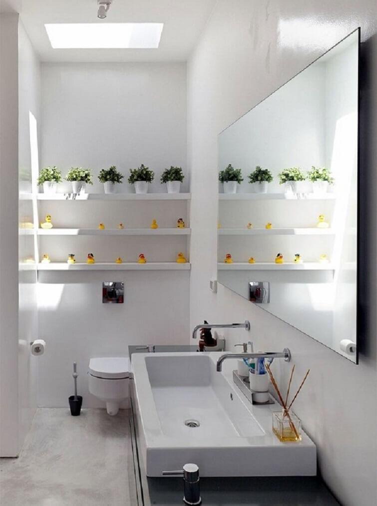 Cuba para banheiro no formato retangular
