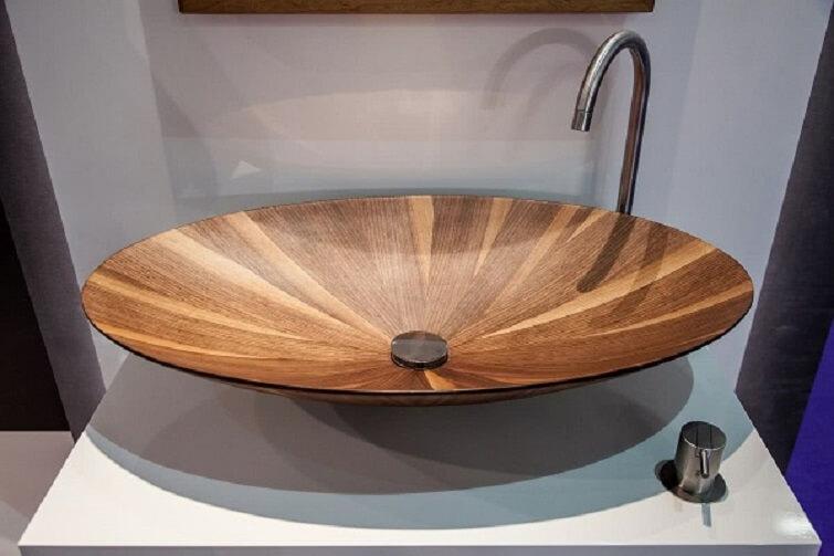 Cubas para banheiro de madeira