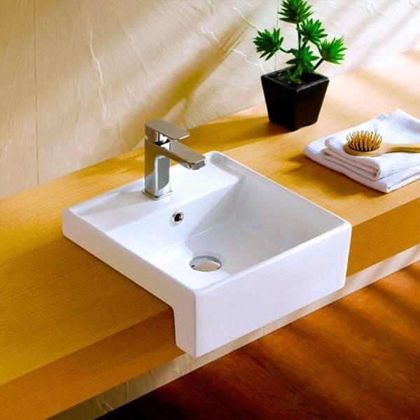 Cuba para banheiro de semi encaixe