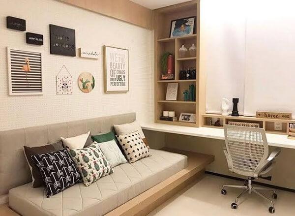 Como montar um lindo e funcional quarto escritório planejado