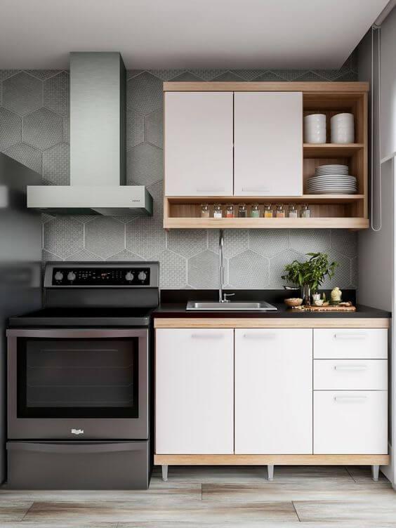 Armário de cozinha de parede
