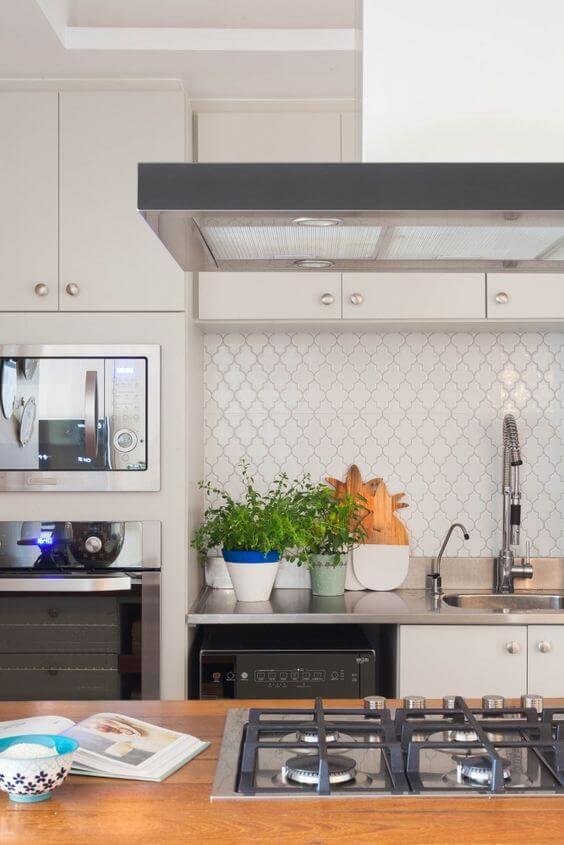 Armário de cozinha branco