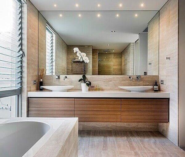 Bancada de Banheiro: +65 Ideias e Materiais para Escolher a Sua