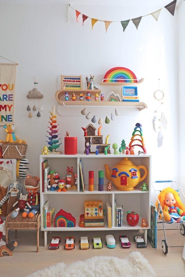 Brinquedoteca em casa prática e bonita