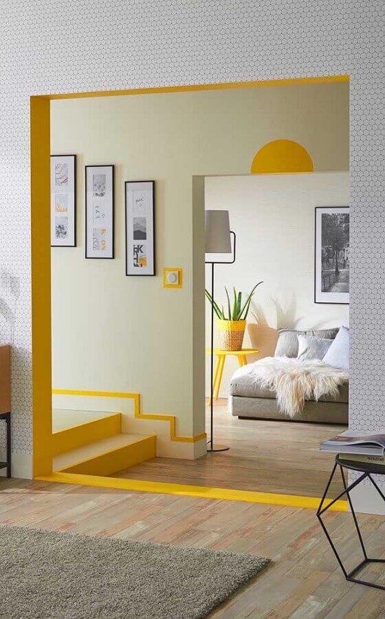 casa decorada com detalhes em tons de amarelo Foto Pinterest