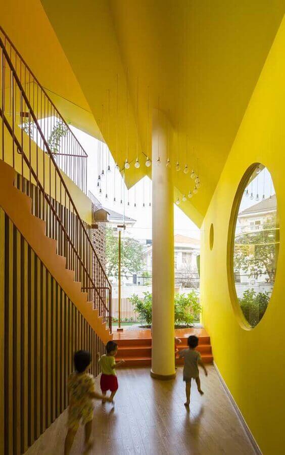tons de amarelo para parede externa Foto Archilovers