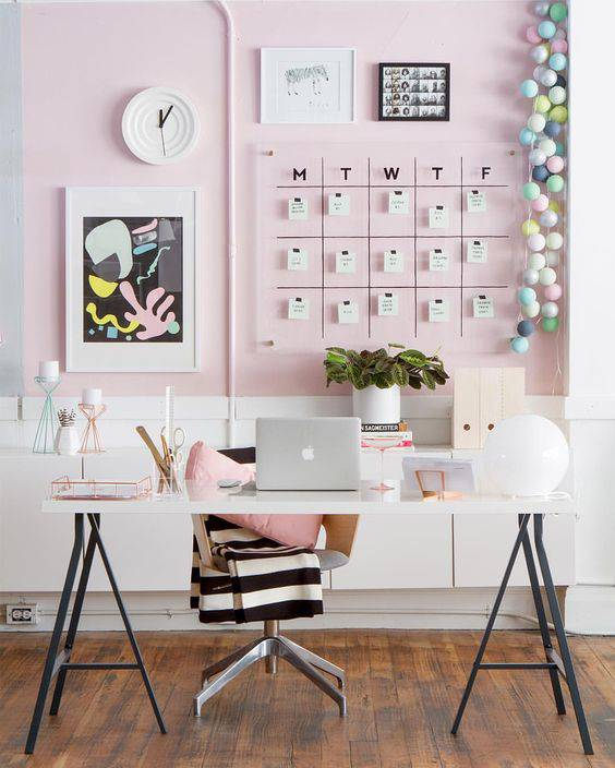 tons pasteis home office charmoso