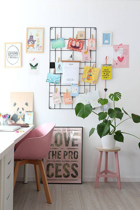 tons pasteis home office com mural
