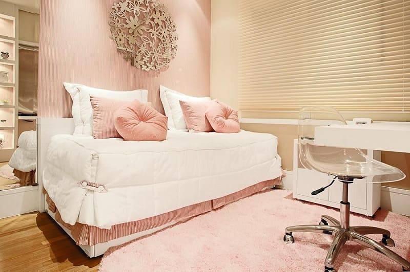 tons pasteis quarto de menina rosa com tapete sesso e dalanezi 5096