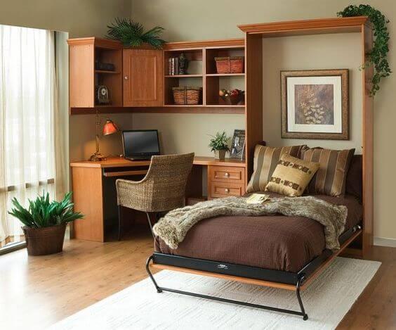 Capriche na decoração do quarto com cama retrátil