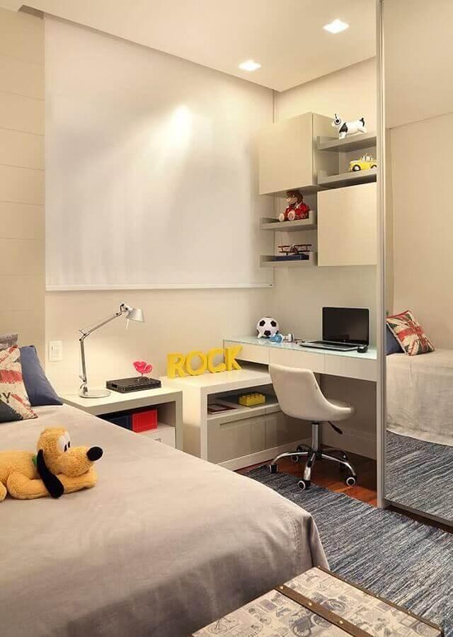 cantinho de estudo pequeno para quarto infantil  Foto Casa de Valentina