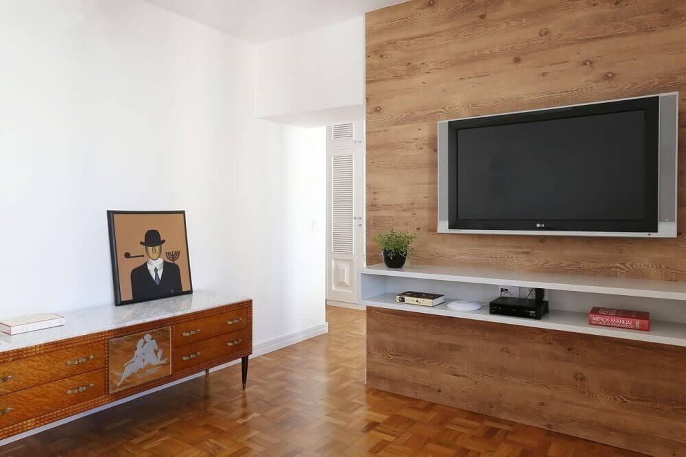 decoração de sala de TV com nicho