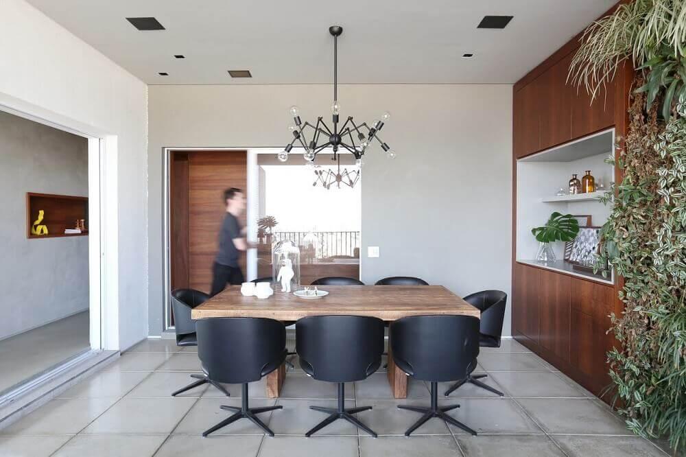 Decoração sala de jantar com nicho embutido