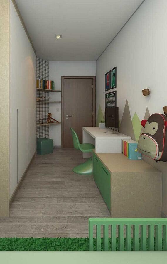 escrivaninha branca para cantinho de estudo infantil Foto Pinterest