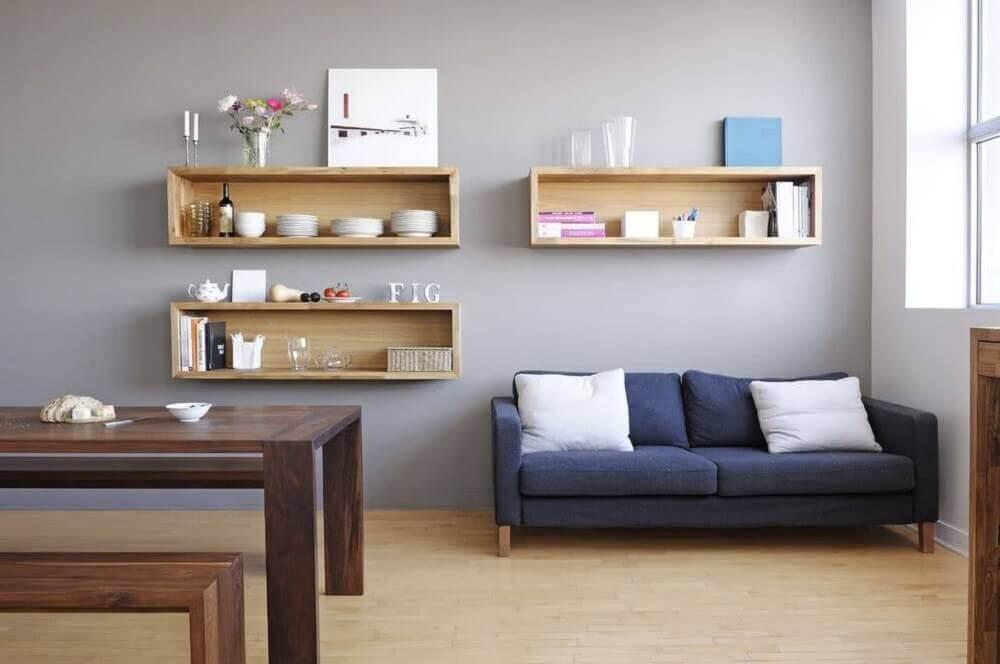 modelos de nichos de madeira para sala