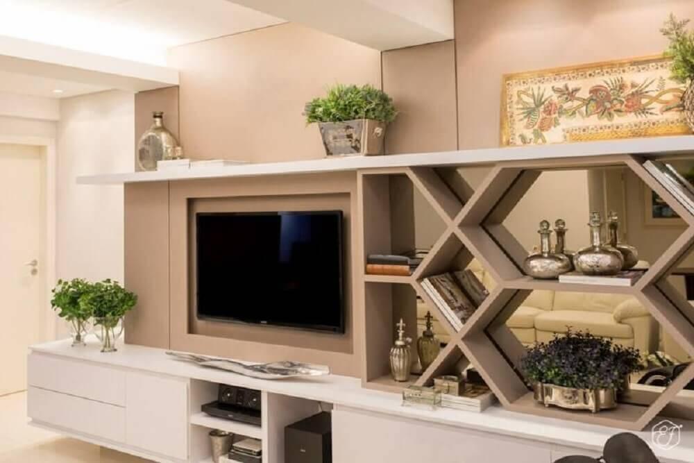modelos diferentes de nichos para sala de TV