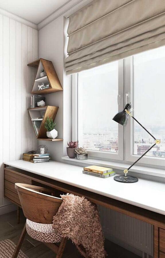 nichos em formato de triangulo para cantinho de estudo  Foto Futurist Architecture
