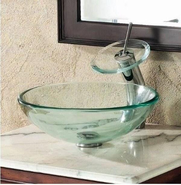 pia de banheiro de vidro cuba de vidro