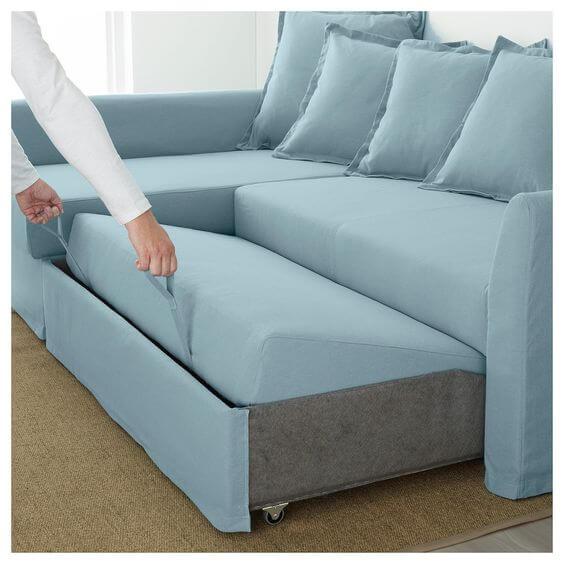 Sofá cama retrátil e inclinável