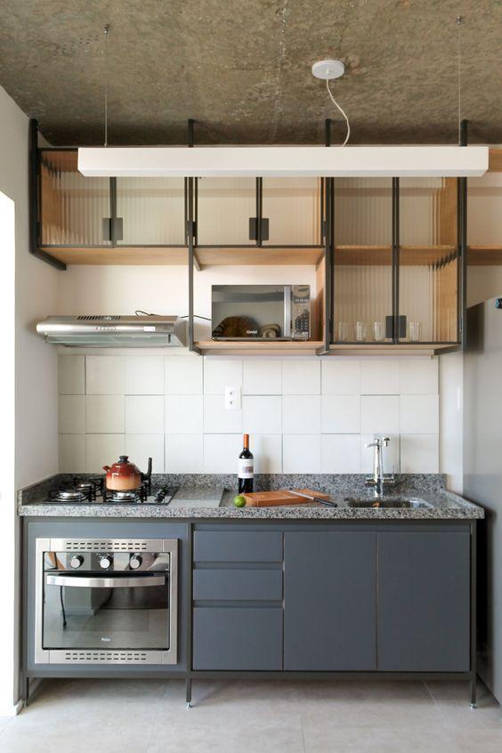 Armário de cozinha pequeno moderno