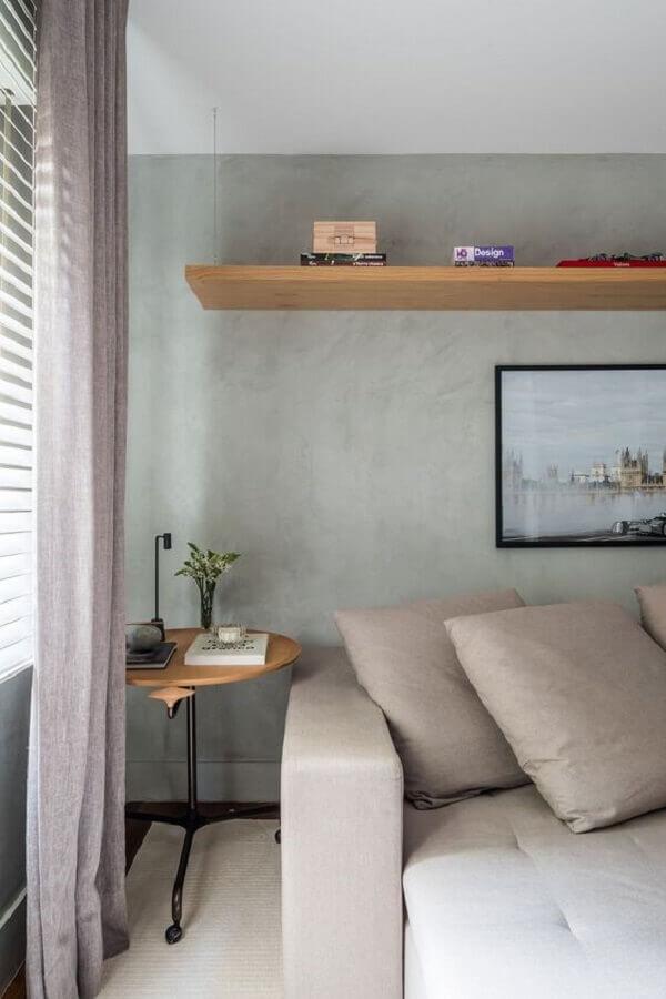 decoração de sala com mesa de canto moderna Foto Casa de Valentina