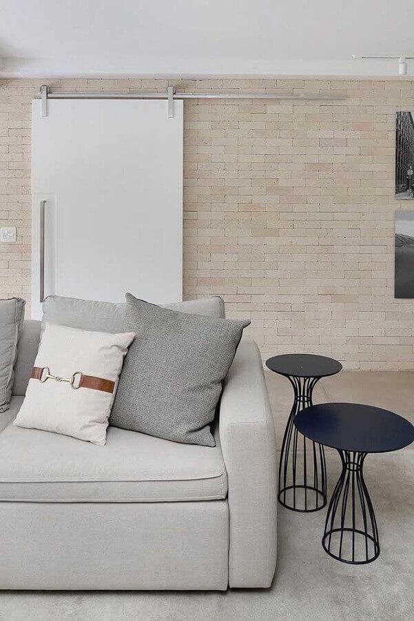 decoração mesa de canto para sala moderna minimalista Foto Futurist Architecture