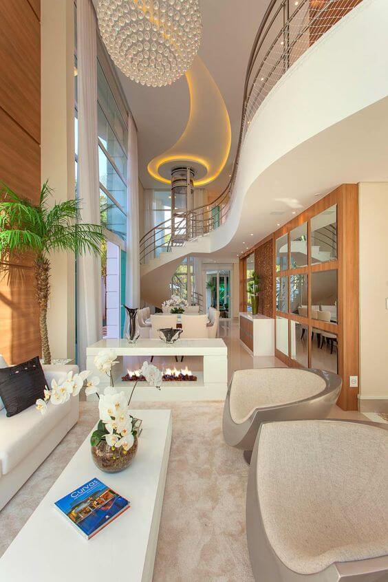 Casa moderna com decoração por dentro