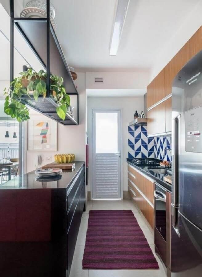 ideias para cozinha pequena corredor Foto Dcore Você