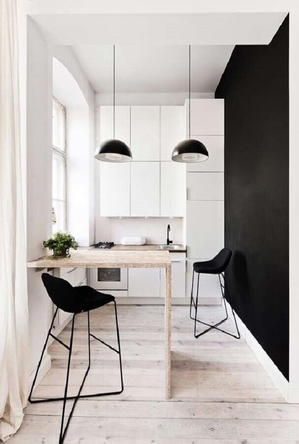 ideias para decorar cozinha pequena moderna e minimalista Foto Architizer
