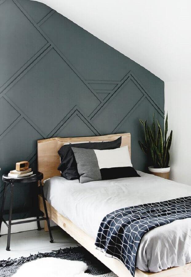 mesa de cabeceira alta para decoração de quarto preto e branco Foto Apartment Therapy