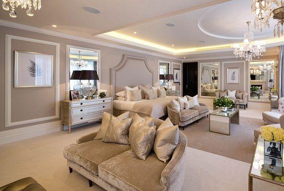 Quarto de mansão de luxo em Londres