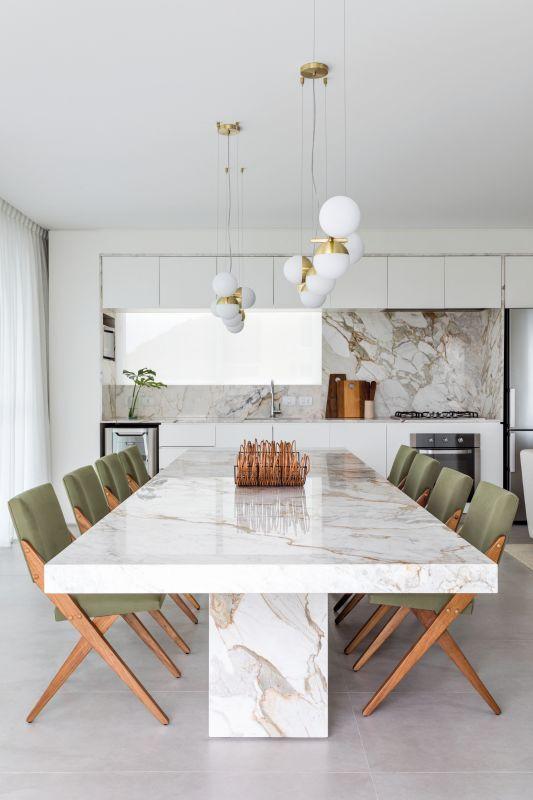 Sala de jantar em mansão
