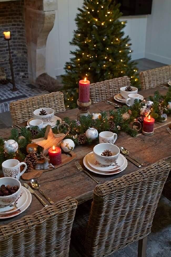 Ative a criatividade para criar os enfeites de Natal para mesa
