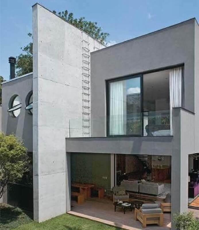 fachadas de casas modernas em tons de cinza Foto Decor Salteado