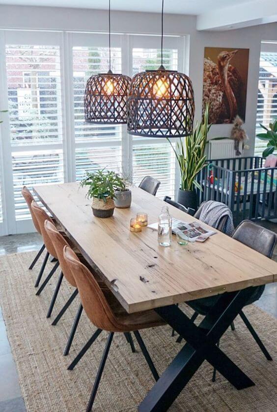 Lustres e pendentes para sala de jantar