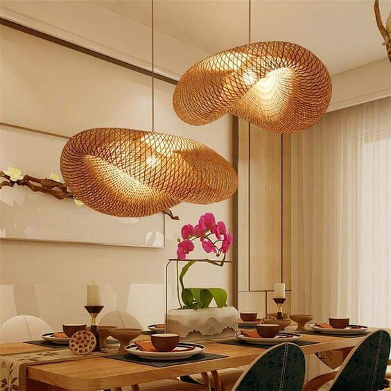 Lustre para sala de jantar rústico e diferente