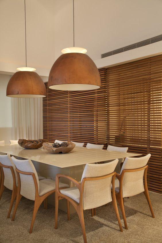 Lustre rústico para sala de jantar de madeira