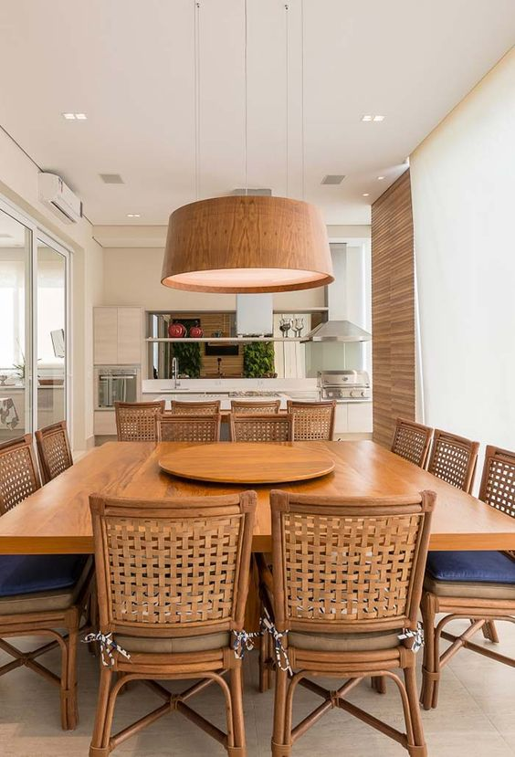 Mesa para varanda gourmet quadrada