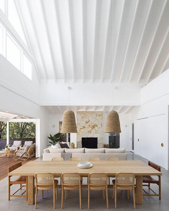 Mesa para varanda gourmet rústica
