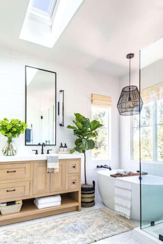 Reforme seu banheiro com lindos lustres rústicos